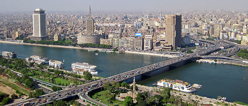 google map of cairo capital city of egypt nations online project