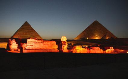 Famous Landmarks Satellite View Of The Pyramids Of Giza