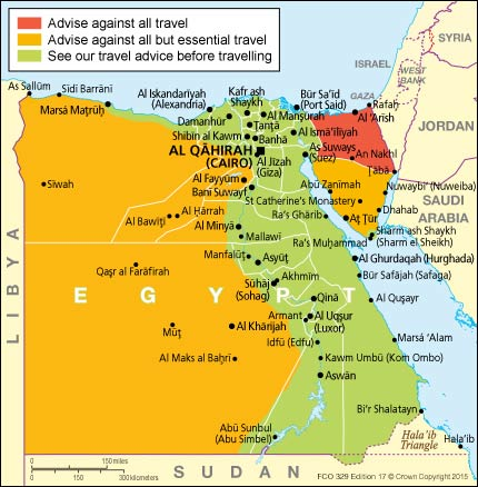 Egypt country profile nations online project egypt travel safety map gumiabroncs Images