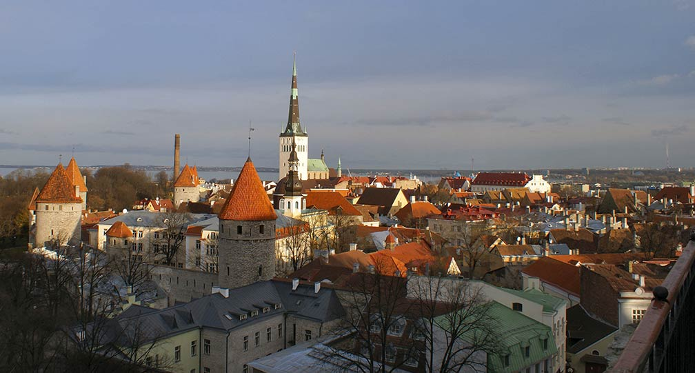Tallinn view from Tompea