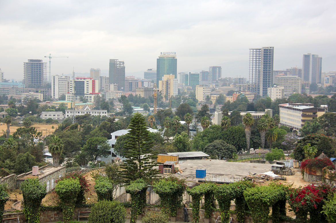 Skyline of Addis Ababa, capital of Ethiopia