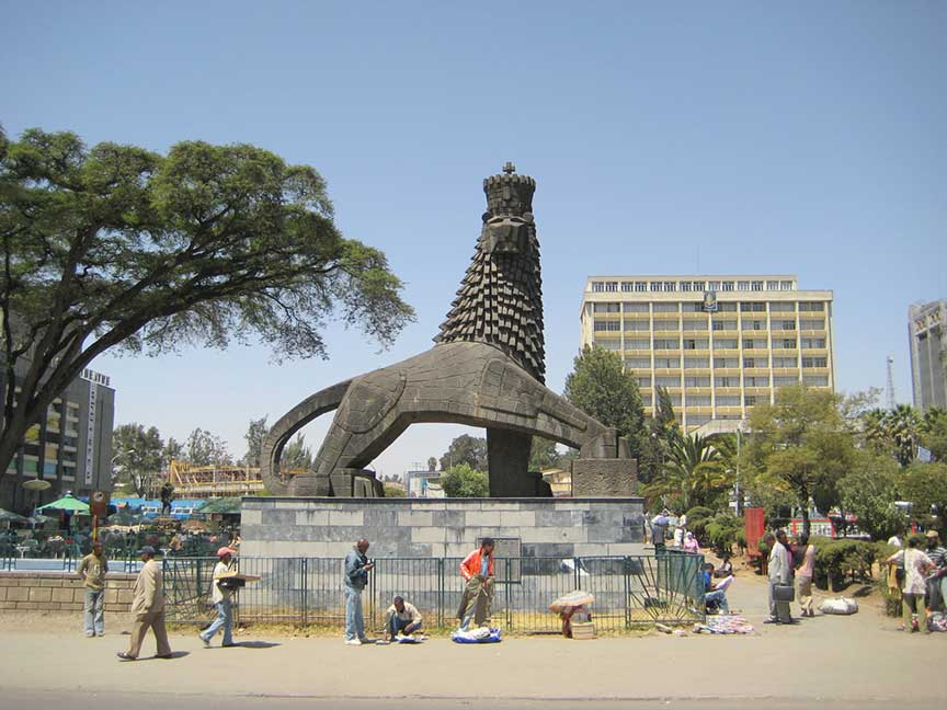 Google Map of Addis Ababa Nations Online Project