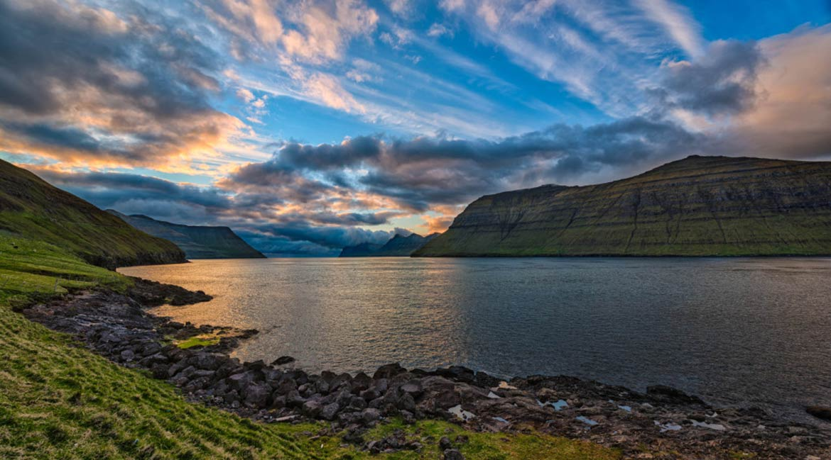 Sunset on Faroe Islands