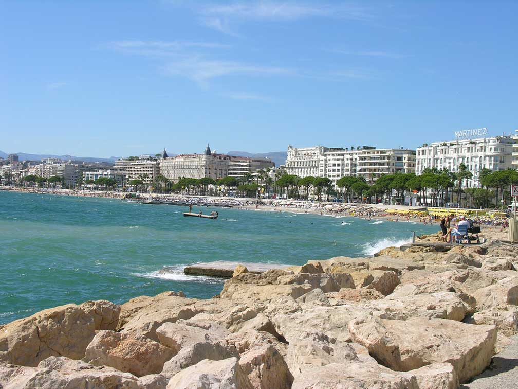City map Cannes France