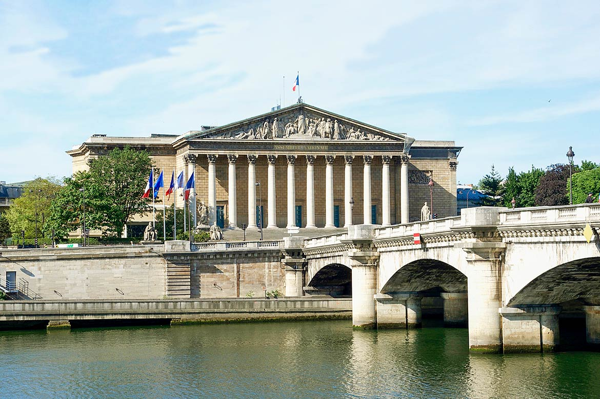 French National Assembly building, Paris