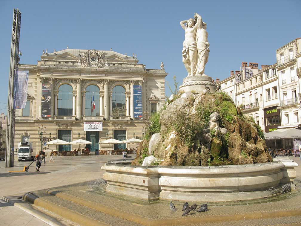 Google Map of Montpellier, France - Nations Online Project