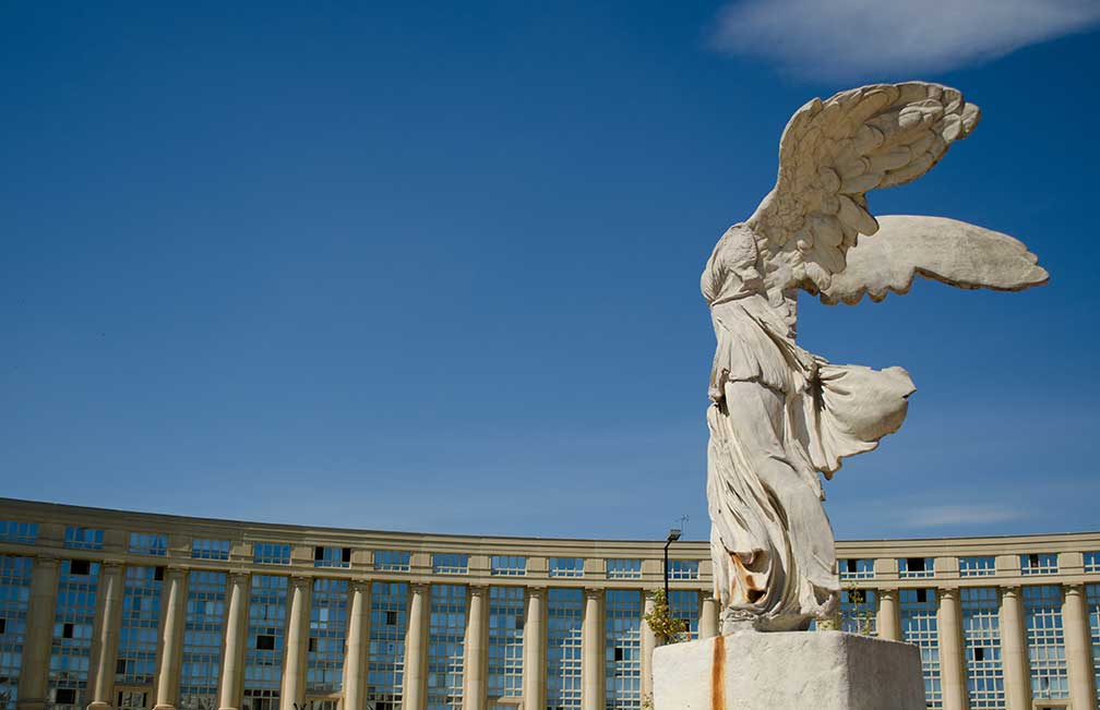 Winged Victory of Samothrace, Antigone district, Montpellier, France