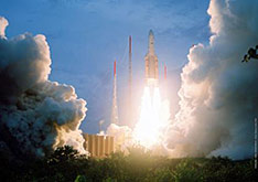 Ariane 5 lift off, Kourou