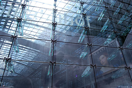 steel and glass construction Berlin Central Station