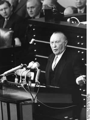 Konrad_Adenauer at the German Bundestag 1955
