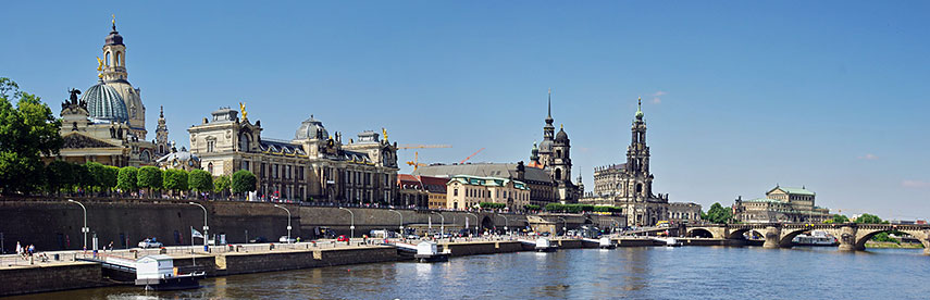 Dresden panorama Old Town and Elbe River
