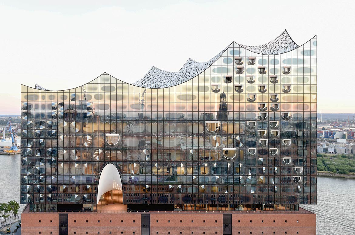 Elbphilharmonie building in Hamburg