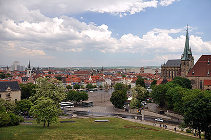 Google Map Of Erfurt Thuringia Germany Nations Online Project - Germany map erfurt
