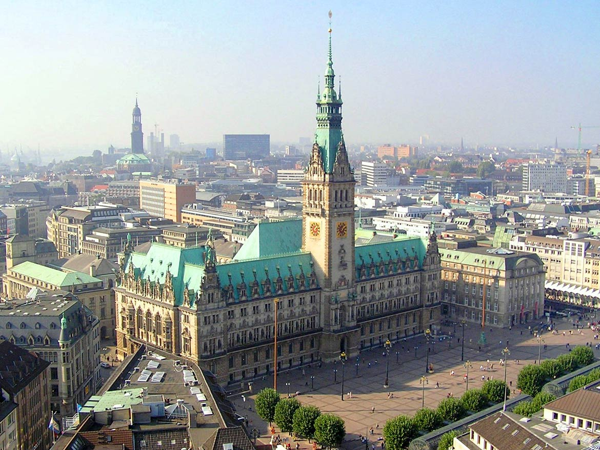 Hamburg Rathaus, city hall