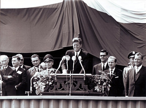 U.S. President John F. Kennedy speech at the Rathaus Schöneberg, Berlin