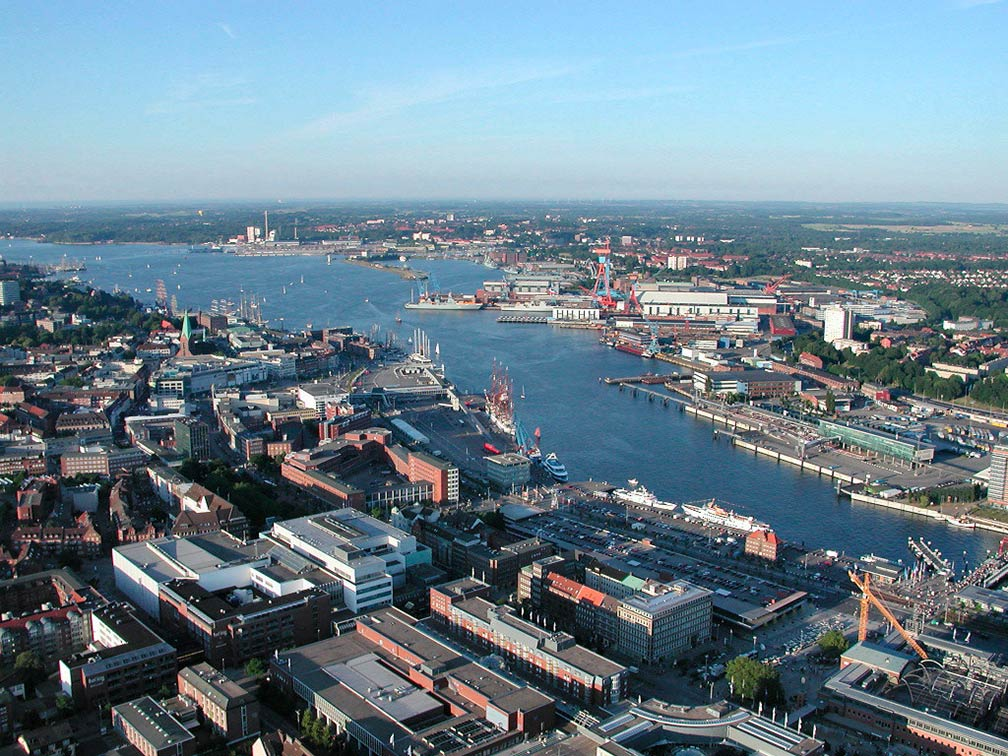 Google Map of Kiel, Schleswig-Holstein, Germany - Nations ...