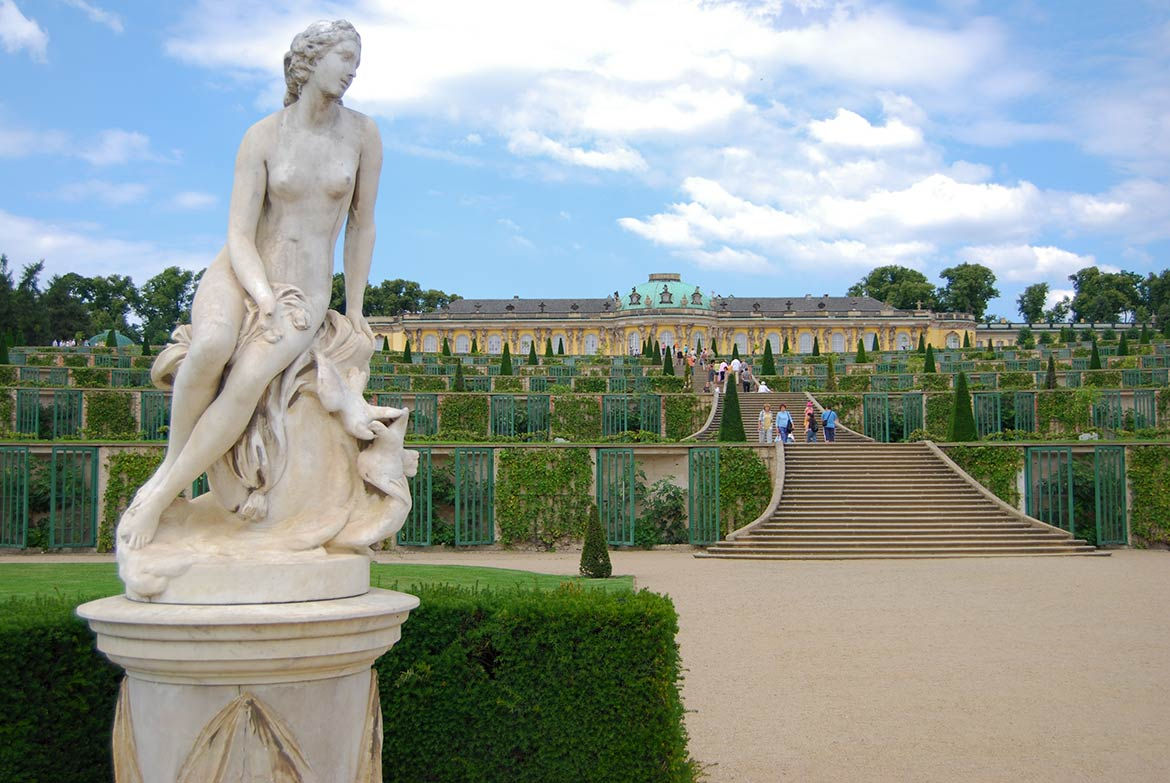 Sanssouci palace and park, Potsdam, Brandenburg