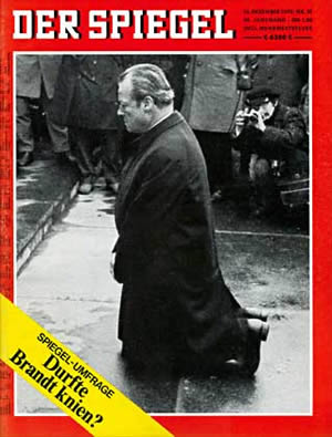 Willy Brandt, Spiegel magazine cover, December, 1970