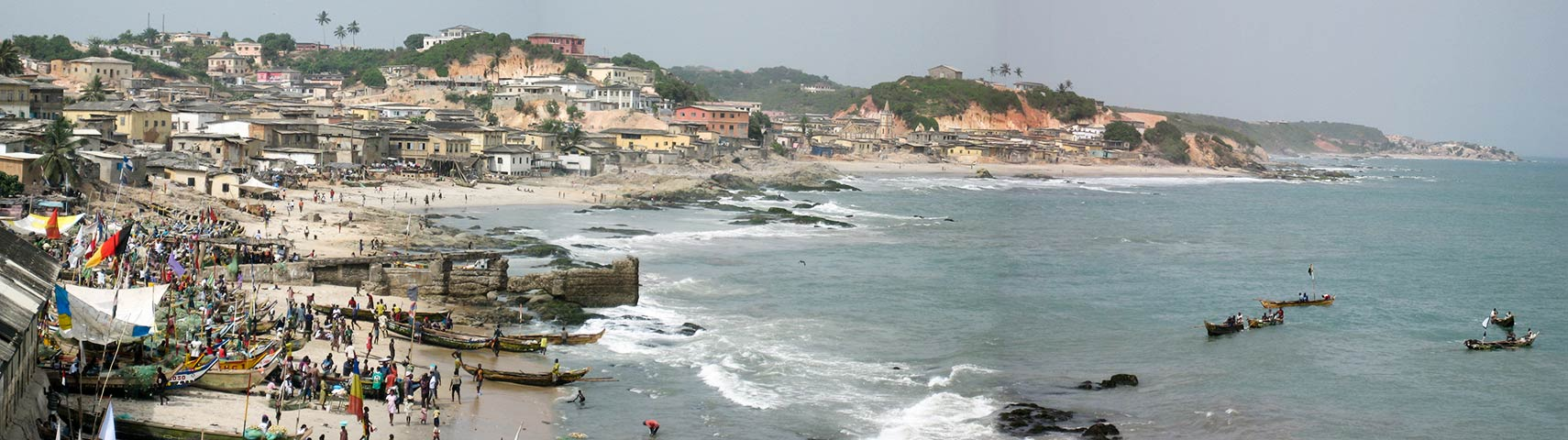 Coast at Cape Coast city, Ghana