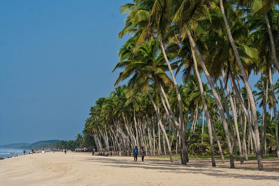 Lagoon Beach in Winneba, Ghana