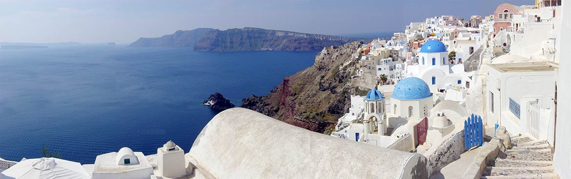 View of the Santorini caldera