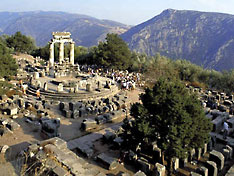 Delphi oracle archaeological site
