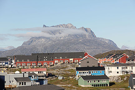 Sermitsiaq Mountain seen from City of Nuuk - Greenland