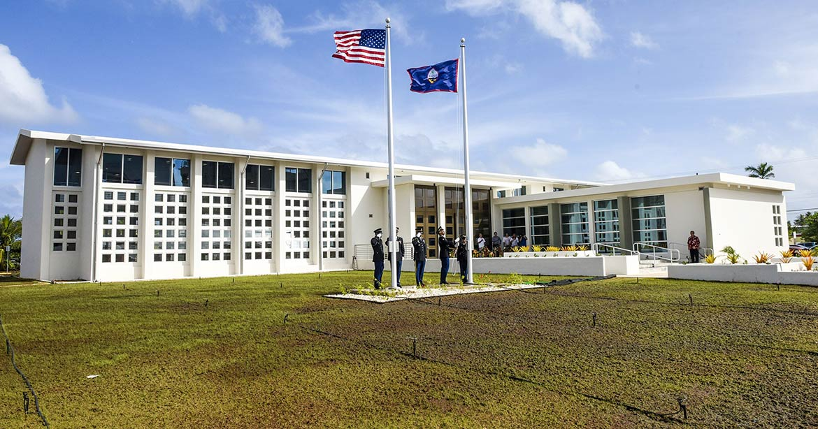 Legislature Building in in Hagåtña, Guam
