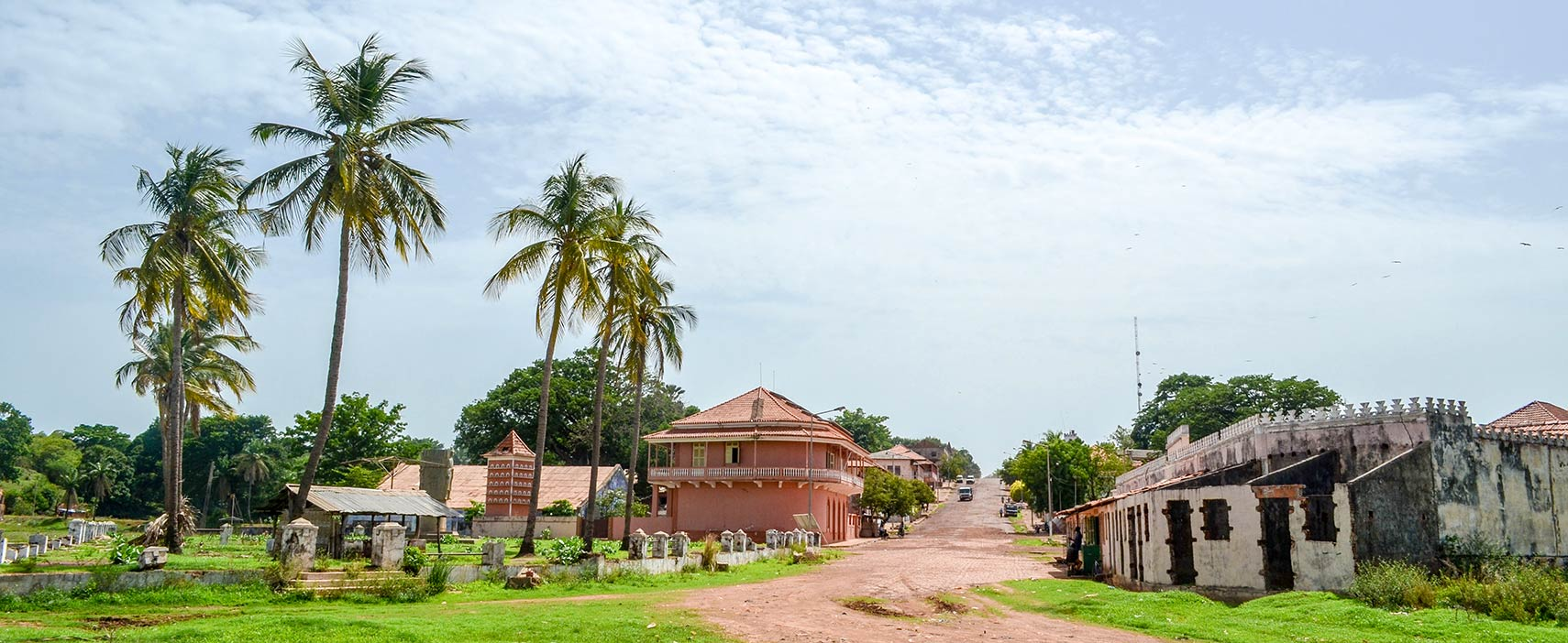 Colonial town of Bafata in Guinea-Bissau