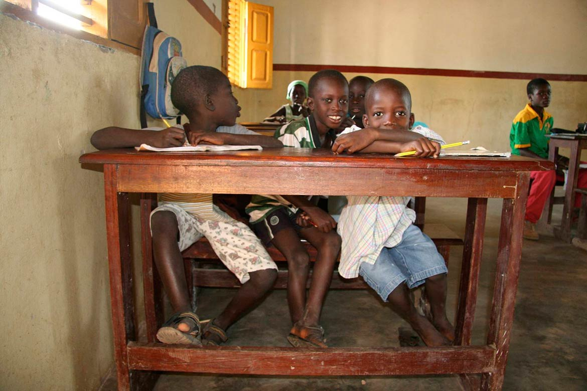 School kids in Biombo Region of Guinea-Bissau