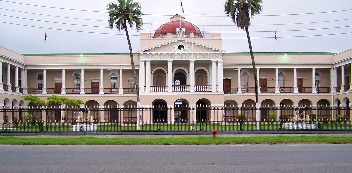 Parliament building in Georgetown, Guyana