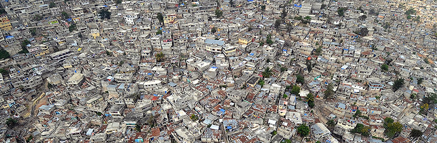 aerial view of Port-au-Prince