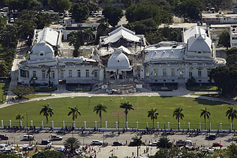 Destroyed Haitian National Palace