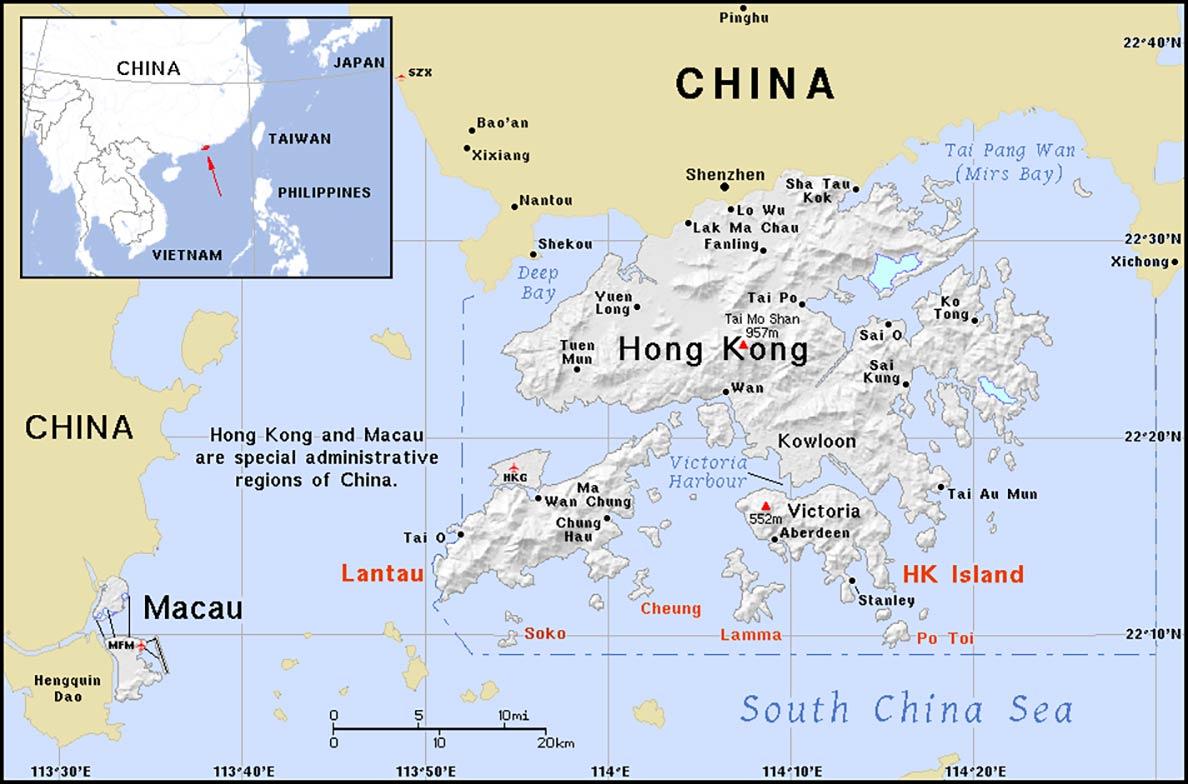 china hong kong map Hong Kong Territory Profile Nations Online Project china hong kong map