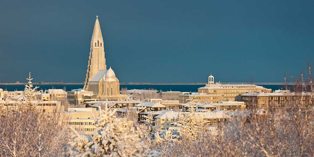 City View of Reykjavik with Hallgríms church
