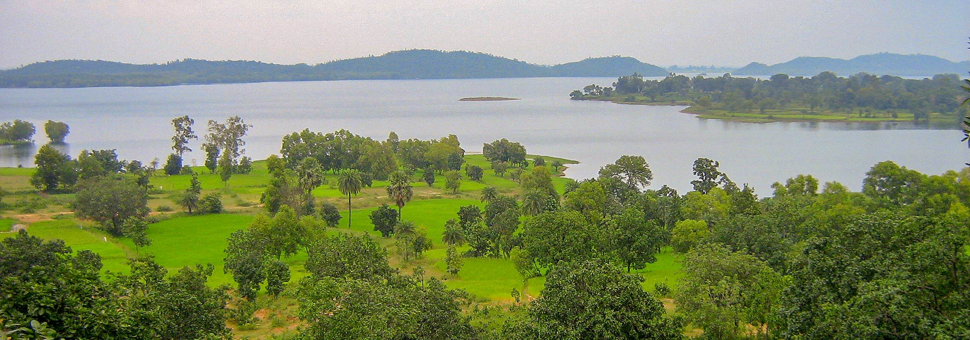 Jharkhand landscape with water reservoir Google Map