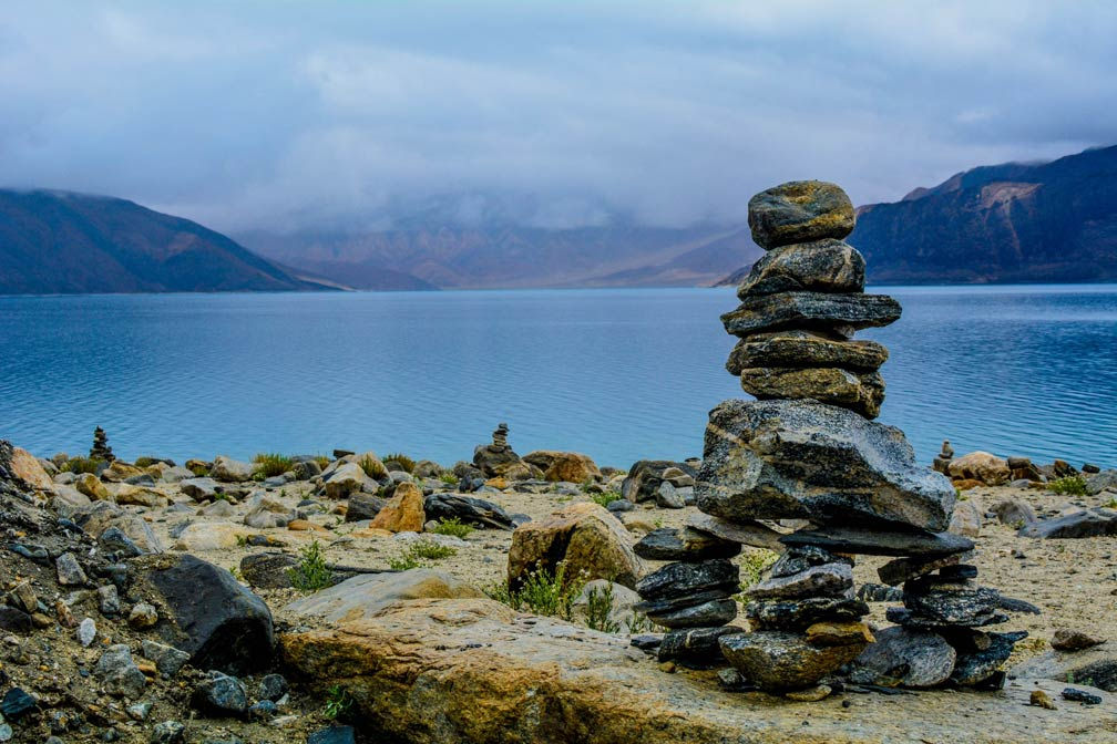 Pangong Tso lake, Leh, Ladakh, Jammu and Kashmir