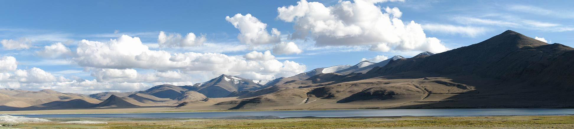 Panorama of Tso Kar lake in Ladakh