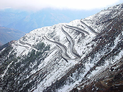 Switchbacks in Himalayas, Arunachal Pradesh