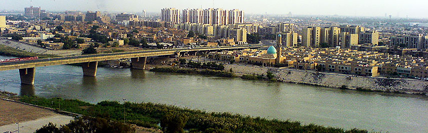 ___ satellite view and map of baghdad iraq