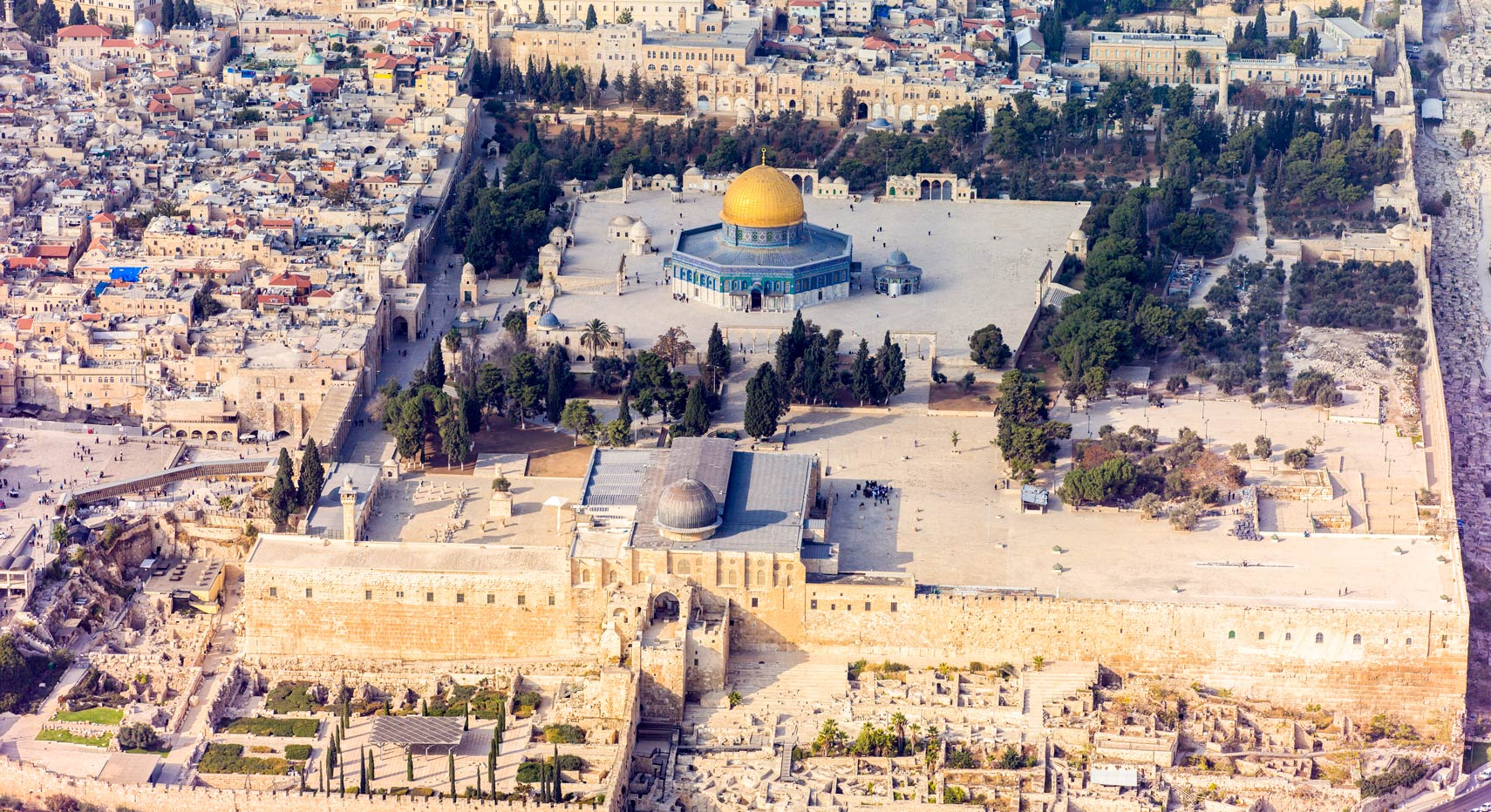 Famous Landmarks: Satellite View of Temple Mount/Noble ...