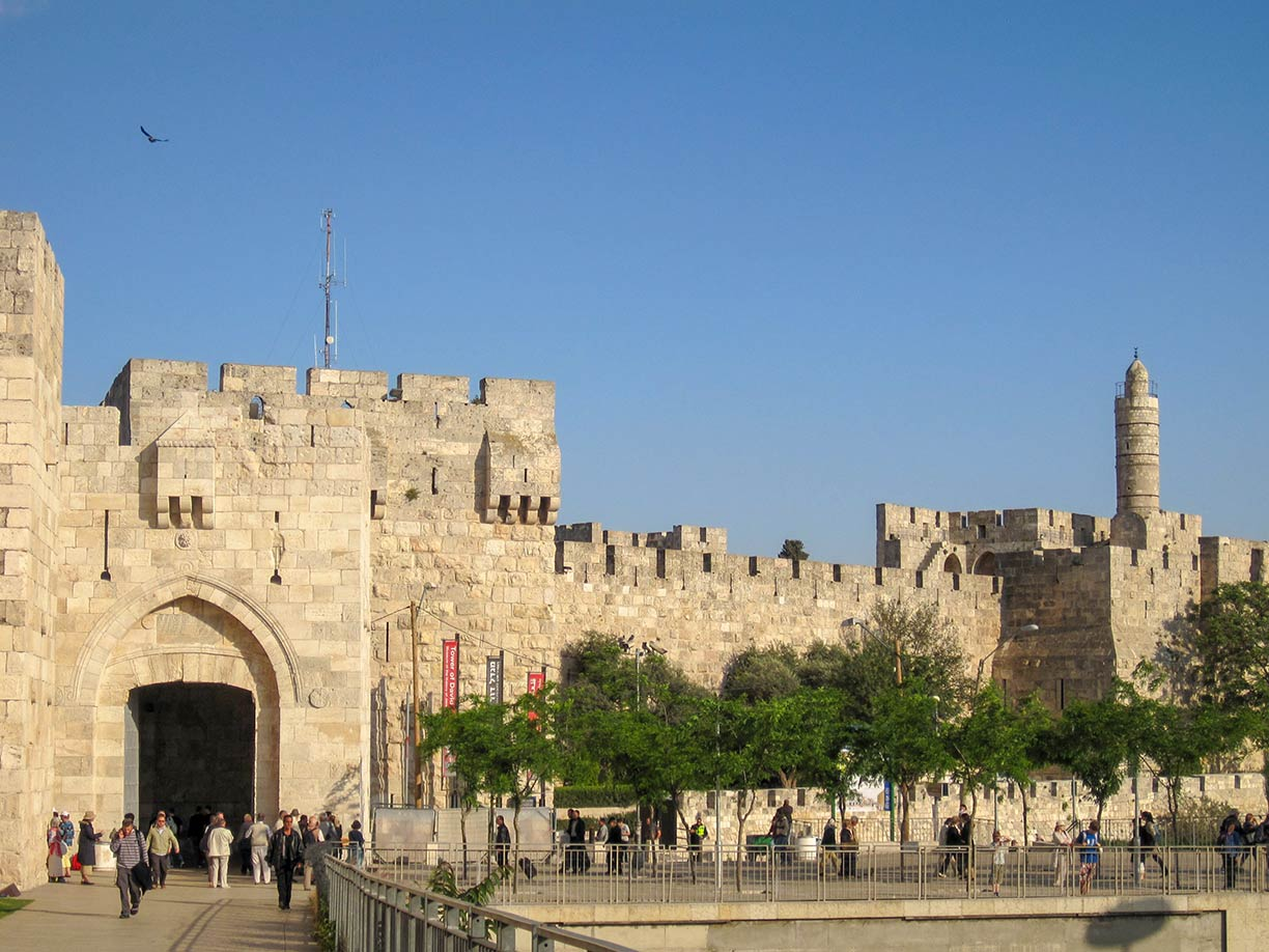 Jaffa Gate and the Tower of David in Eastern Jerusalem