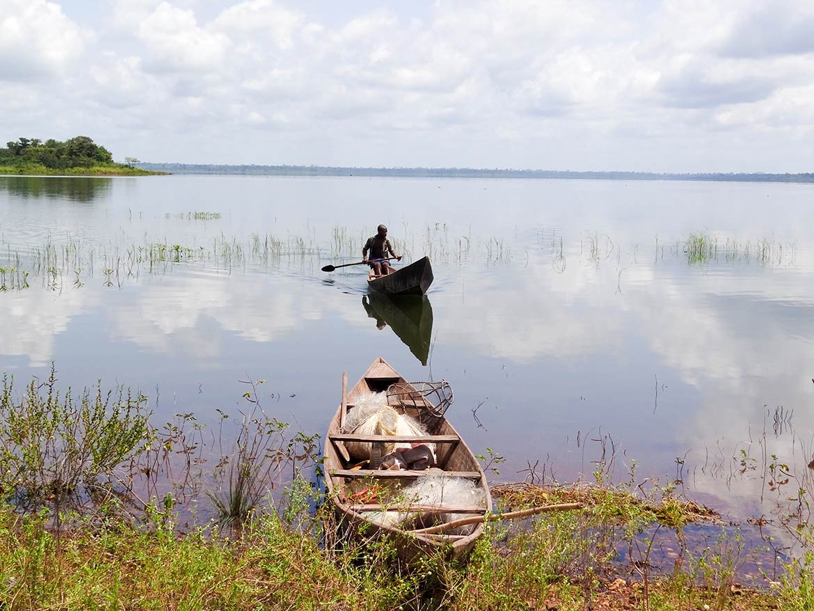 Kossou artificial lake