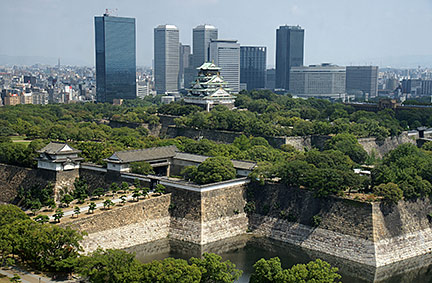 Osaka Castle in Chuo-ku, Osaka, Japan