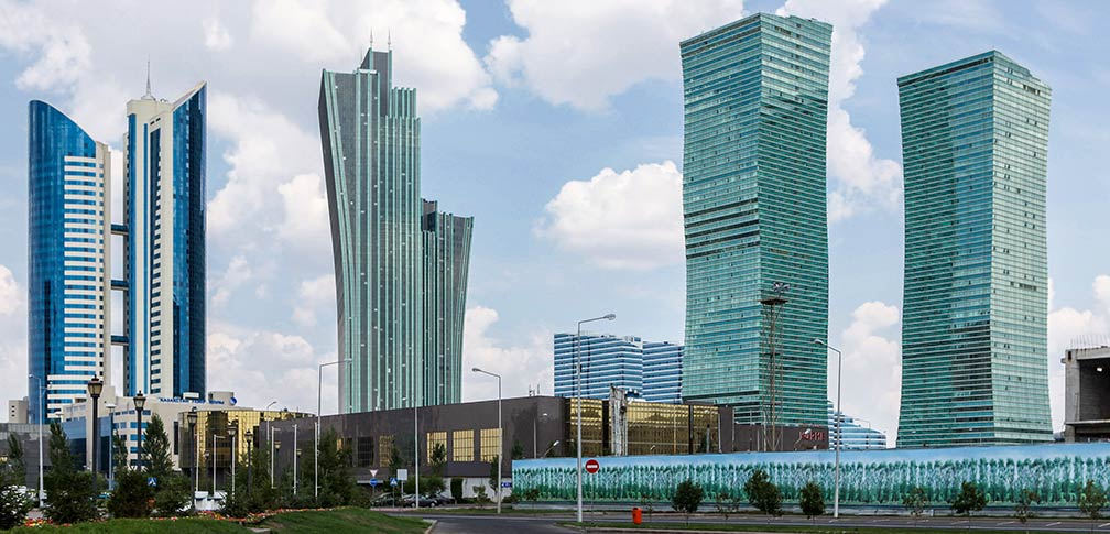 New buildings in Astana's Central Business District