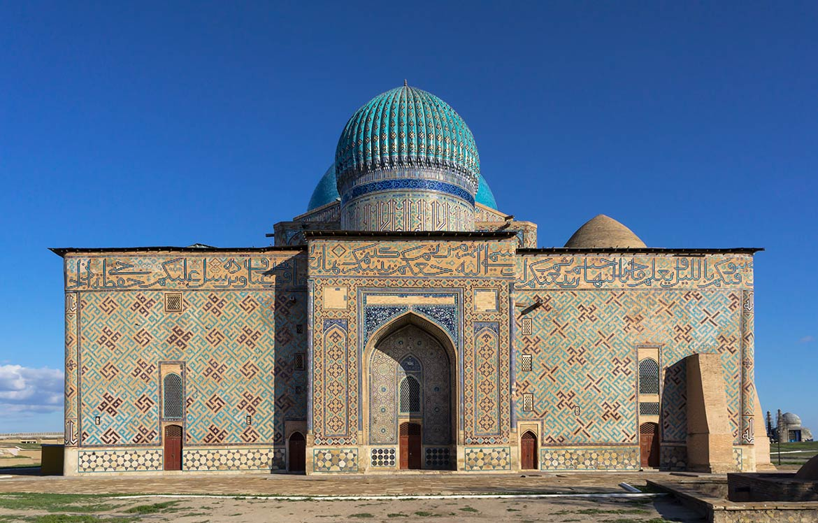Mausoleum of Khoja Ahmad Yasawi in the town of Turkestan, Kazakhstan