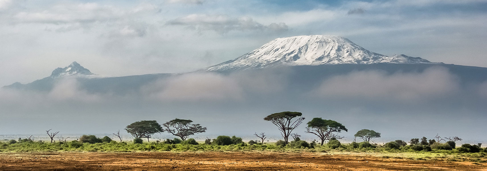 View of Kilimanjaro from Amboseli National Park, Kenya