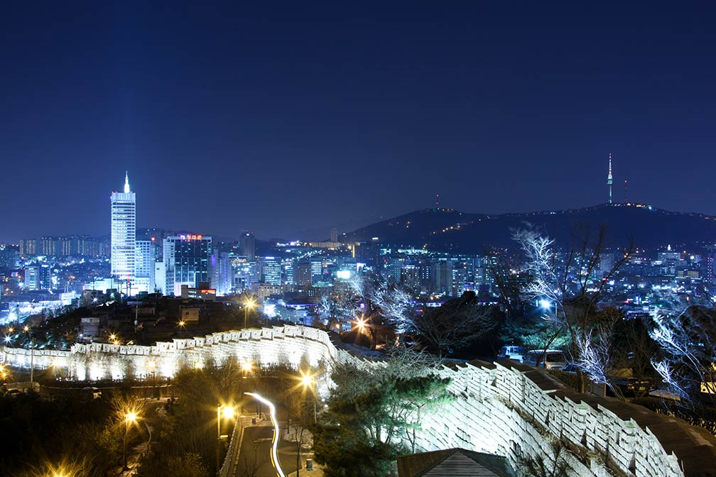 View of Seoul at night