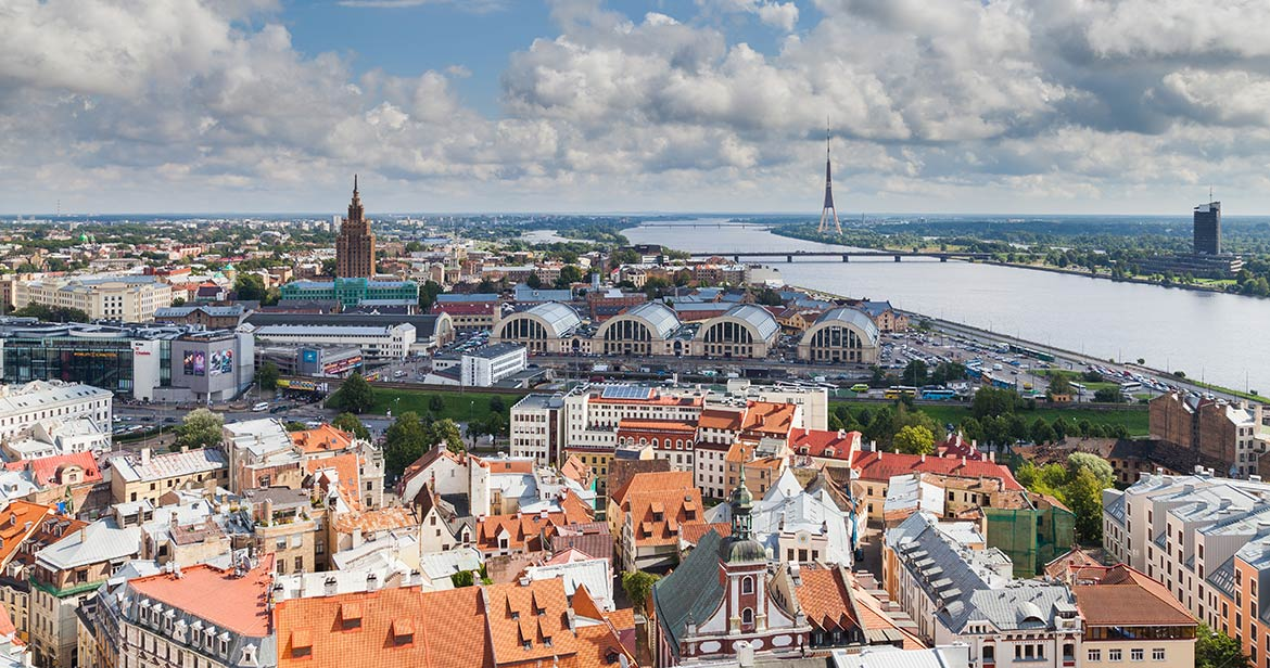 View of Riga from Saint Peter's church