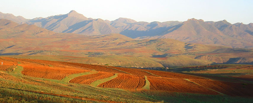 andscape of Lesotho